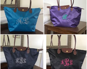 Sorority Gift - Back to School - Totes - Embroidered Tote - Personalized Bridesmaid Gift - Travel Tote - College Gift