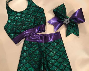Custom Green Mermaid Scale Outfit for J. Earnest