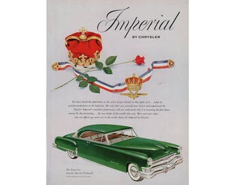 Vintage poster advertisement of a 1952 Chrysler Imperial - 59