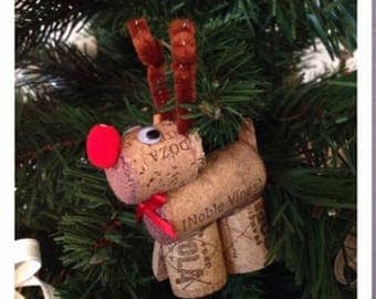 Pair of cork reindeer