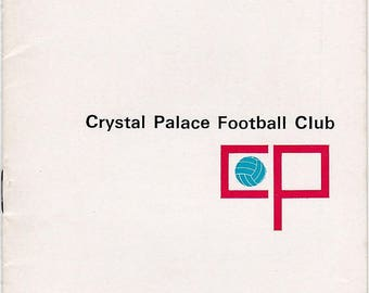 Vintage Football (soccer) Programme - Crystal Palace v Portsmouth, 1967/68 season