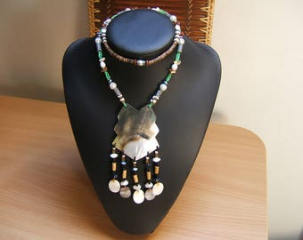 Necklace 50cm mother of Pearl and beads