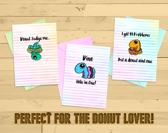 Printable-greeting card-just because-cute-funny-humor card-blank-5x7-one of a kind-adorable-donut lover-mombie-feel good-donut hole-sugar