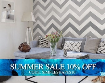 Chevron Cool Grey Peel & Stick Fabric Wallpaper Repositionable