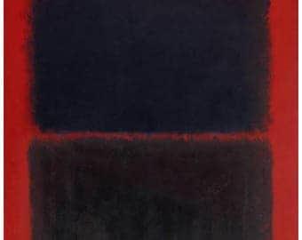 MARK ROTHKO - 'Light red over black' - original archival quality print - large (Curwen Press, London. De Kooning, Jackson Pollock interest)