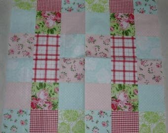 New: 2 paper PATCHWORK flower napkins