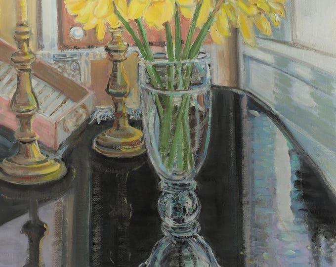 Daffodils on Caroline's Table