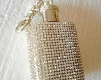 Crystal Bling flask keychain