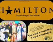 Hamilton the Musical inspired Project Bag of the Month 2018: March Drawstring / Zipper, 1 month subscription