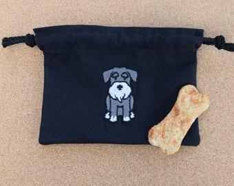 Miniature Schnauzer Dog Treat Bag, Schnauzer Treat Bag, Schnauzer Bag, Dog Bag, Treat Bag, Poo Bag Holder, Miniature Schnauzer