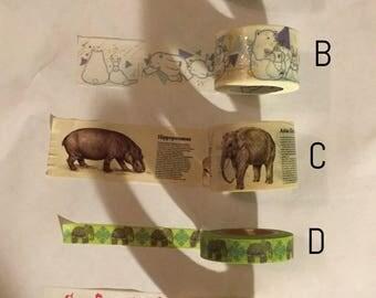 Washi tape sample: animal #6