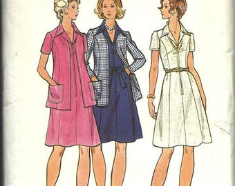25% OFF Butterick Pattern 6982    Misses and Women's  Dress and Jacket    size  16 or 18  uncut