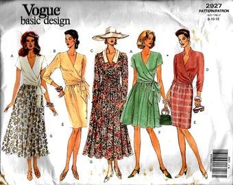 Vogue 2927         Misses Skirts and Wrap Top   Size 8,10,12    Uncut