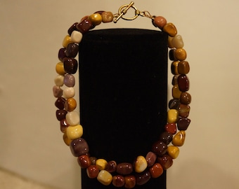 Double Stranded Mookaite Bracelet