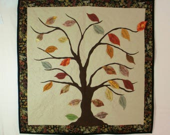 Family Tree Quilt Wall Hanging