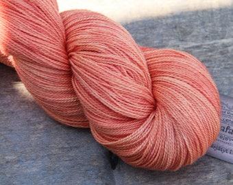 Merino (80) Silk (20) Lace-weight yarn in color 'Pehmeä Persikka'