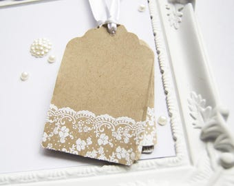 50 Blank Tags, Wedding Favor  Tags, Wishtree Decoration, Rustic Tags for Bridal Shower, Favor Tags, Embossed Paper Tags