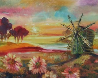 Picture Original Oil Painting-Morning- Landscape Painting