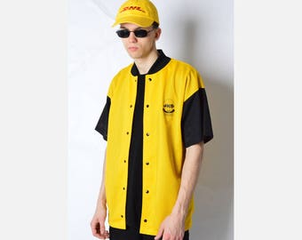 Vintage 80s Black And Yellow Basketball Jersey Shirt