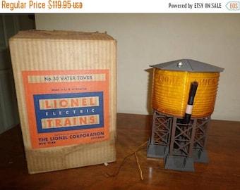 Save 25% Now Vintage Lionel Trains Post War Illuminated Water Tower No 30 In Original Box