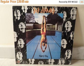 Save 30% Today Vintage 1981 Vinyl LP Record High N Dry Def Leppard Near Mint Condition 14930