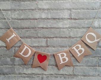 I DO BBQ Burlap Banner - Rustic Wedding banner, Engagement, Couple Showr, Bridal shower, Photo prop.