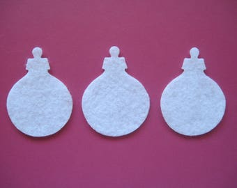 CHRISTMAS ORNAMENTS -- Die Cut. Perfect to use for wax dipping, decorations, clothing, and more! Fun for card making, too.