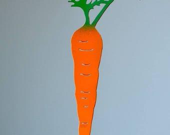 Carrot Vegetable Garden Stake | Vegetable Garden Marker | Farm to Table Art | Garden Stake | Metal Garden Art | Garden Gifts for Mom | V302