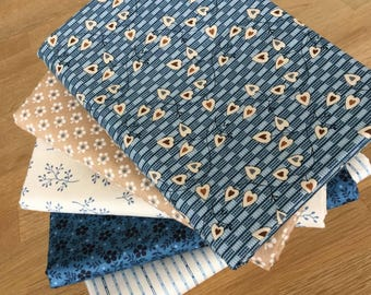 Blue Sky Quilting Fat Quarter Bundle C by Makower Floral Fabrics