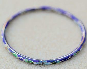 Cloisonne Bangle Bracelet Vintage
