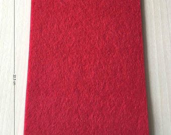 Coupon of 3 mm thick red felt