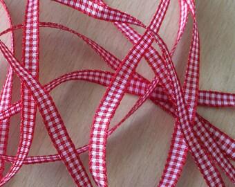 pretty red decorative ribbon gingham 204