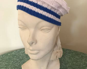 1930s knitted middy cap