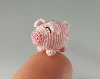 Pig Pebbles, Crochet Amigurumi Miniature