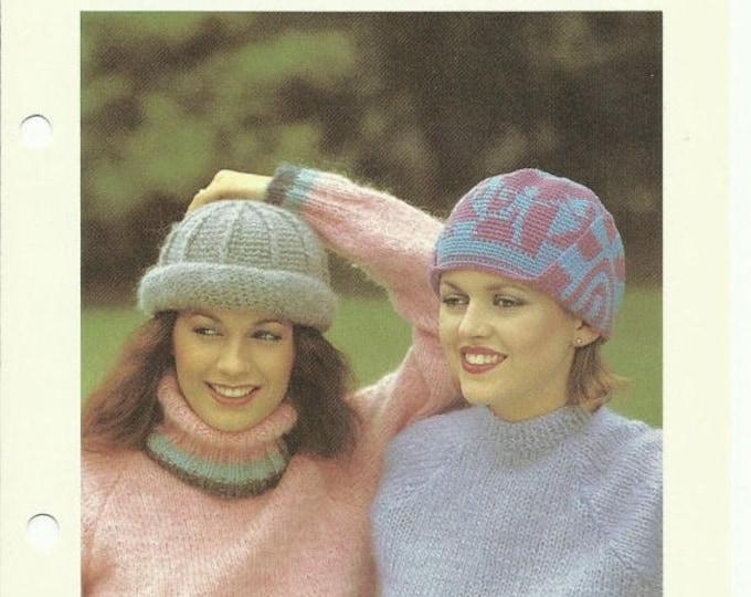 Retrocon Sale - Top hats two easy crochet hat patterns digital download