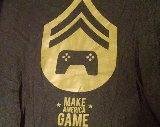 Shirts - Make America Game Again - Black and Olive Drab - Adult M
