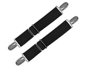 BOOT STRAPS - BLACK - 2 Sizes for Better Fit - Adjustable