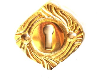 Lovely Brass Key Hole with Vintage Style Design Door or Cabinet Hardware