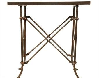 Old Bronze Fnsh Rectangular Medium End Table w British East India Trading Antique Style Legs