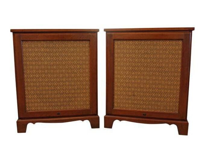 Mid-Century Floor Speakers Danish Modern Bozack Colonial 302 Floor Speakers-PAIR