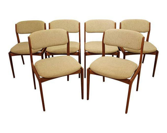 Mid-Century Dining Chairs Danish Mobler Style Teak Dining Chairs-Set of 6