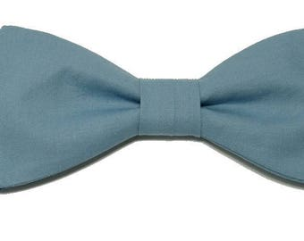 Steel blue bowtie with straight edges