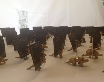 Dinosaur Escort card holder and favour in one  place card holders