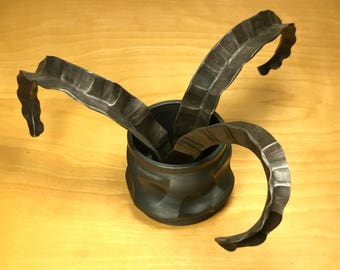 Forged Steel Vessel with Foliage (Free Shipping)