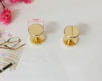 10 Sets 11x8mm Golden Fine copper screws rivets Chicago screw/ Concho screw