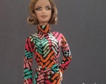 Top for Barbie,Muse barbie,Tall barbie, FR, Silkstone -No. 0531