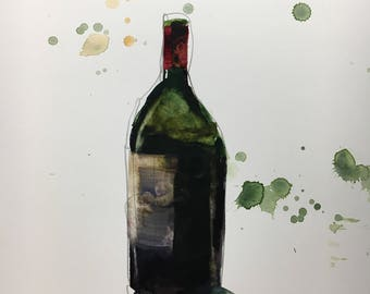 "1125 original watercolor 8x10"""