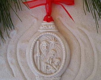 NATIVITY Made of Sand Ornament