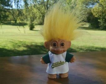 Vintage Russ Troll Doll Athletics Troll, Good Luck Troll