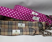 Martingale Collar with Chain or all fabric- Any fabric in the shop
